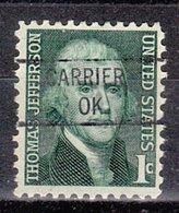 USA Precancel Vorausentwertung Preo, Locals Oklahoma, Carrier 841 - Vereinigte Staaten