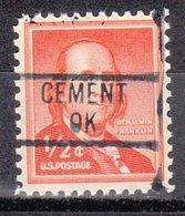 USA Precancel Vorausentwertung Preo, Locals Oklahoma, Cement 839 - Vereinigte Staaten