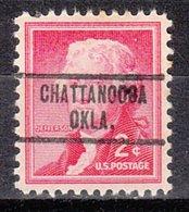 USA Precancel Vorausentwertung Preo, Locals Oklahoma, Chattanooga 734 - Vereinigte Staaten