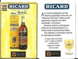 Vends  Publicité RICARD  Collection Paul Ricard  Dutyfree Carton 1v Ricard 5 V D'eau - Publicités