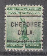 USA Precancel Vorausentwertung Preo, Locals Oklahoma, Cherokee 712 - Vereinigte Staaten