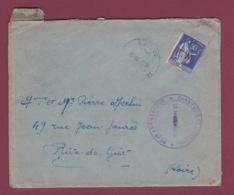 GUERRE 39/45 - 150318 -  Lettre CHANTIER DE JEUNESSE Groupement N° 39 Montluçon ALLIER Avec Correspondance 1941 - Postmark Collection (Covers)