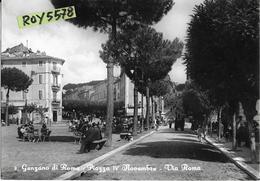 Lazio-roma-genzano Di Roma Piazza IV Novembre Via Roma Bella Veduta Animatissima Anni 50 - Altre Città
