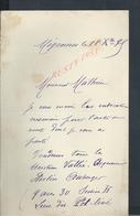 LETTRE DE 1898 DE MIGENNES À Mr MATHIEU NOTAIRE À JOIGNY : - Manuscripts