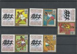 BURUNDI YVERT  AEREO 95/99   MNH  ** - Verano 1968: México