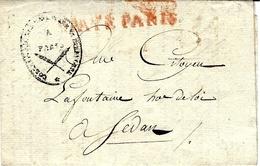 """An 7  -franchise """" Correspondance Nationale Et Etrangère """" + PPAYE PARIS Pour Sedan - 1701-1800: Précurseurs XVIII"""