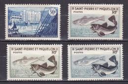 St Pierre Et Mqn N°348*,353*,354*,355* - Ungebraucht