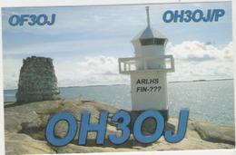 Qsl Radio Amateur -  Finlande - Kaurissalo Island - Radio Amatoriale
