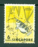 Singapore: 1962/66   Pictorial - Marine Life, Flowers, Birds   SG67    6c    Used - Singapore (1959-...)