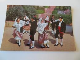 """C.P.A. BLANES Esbart """"Joaquim Ruyra"""", Dança De Castelltersol Sello En 1968 - Gerona"""