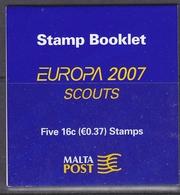 Europa Cept 2007 Malta Booklet ** Mnh (37940) Scouting - 2006