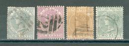 CEYLAN ; Colonie Britannique ; 1903-1908 ; Y&T N° 49-50-67-68 ; Lot :  ; Oblitéré - Ceylon (...-1947)