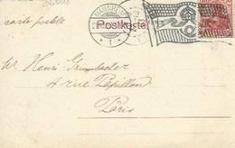 TP 69 Sur Carte Postale De Karlsruhe Postée à Mannheim  Pour Paris - Voir Flamme - Deutschland