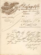 Allemagne - Berlin - Entête Du 26 Novembre 1897 - A.Delpey & Cie - Cognac Import - Export - Germany