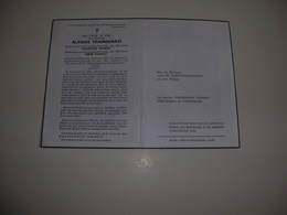 Bidprentje Alfons Temmerman (Wanzele 1877-Lede 1960)xPonnet - Images Religieuses