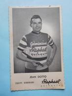 Equipe Geminiani 1957-1958 Jean Dotto  St Raphael Quinquina - Cyclisme