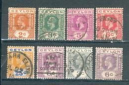 CEYLAN ; Colonie Britannique ; 1912-18 ; Y&T N°  ; Lot : 06 ; Oblitéré - Ceylon (...-1947)