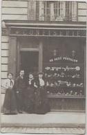 CPA PHOTO 75 PARIS XVII 12 Rue Rennequin Commerce Confiserie Au Petit Postillon Maison Melle REQUET Rare - District 17