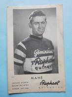 Equipe Geminiani 1957-1958 Mahé  St Raphael Quinquina - Cyclisme