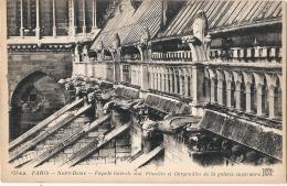 ***  75  ***   PARIS Notre Dame Façade Intégrale Sud Pinacles Et Gargouilles De La Galerie Extérieure RARE - TTB Neuve - Notre Dame De Paris