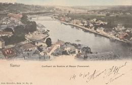 18 / 3 / 297    NAMUR   -  CONFLUENT  DE  SAMBRE  ET  MEUSE  (  PANORAMA ) - Namen