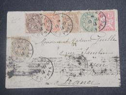 PORT SAÏD - Enveloppe De Port Saïd Pour La France En 1913 , Affranchissement  Blanc / Mouchon - L 14931 - Port-Saïd (1899-1931)