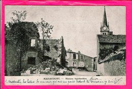 Cpa  Carte Postale Ancienne  - Raulecourt Maisons Bombardees - Guerre 1914-18