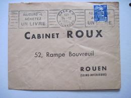 1954 CABINET ROUX 52 Rampe Bouvreuil ROUEN (Seine Inférieur) - Marcophilie (Lettres)