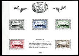 Bloc Trésors De La Philatélie Paquebot Normandie - Lot 31 - Mint/Hinged
