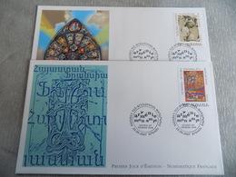 FDC (2) Arménie 2007 : Miniature Du XVè Siècle + Archange - Arménie