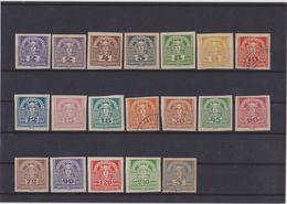 AUTRICHE   1920-21  Timbre Pour Journaux  Y.T. N° 36  à  54  Incomplet  NEUF* Trace De Charnière Et Oblitéré - Giornali