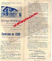 64- SALIES DE BEARN- DEPLIANT TOURISTIQUE- CAR PULLMAN- GARAGE BOISSEAU-CIRCUIT LOURDES ET PAU-ORTHEZ-JURANCON-LAGOR- - Dépliants Touristiques