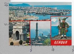 CARTOLINA NV ITALIA - GENOVA - Alpino - Lanterna - Porto - Vedutine - 10 X 15 - Genova (Genoa)