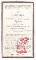 DP Joanna Francisca S. LeFebure ° Assenede 1766 † Lokeren 1849 X Joannes Marinus Antheunis - Imágenes Religiosas