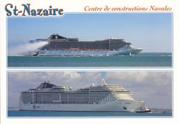 44 SAINT NAZAIRE /2 VUES / CENTRE DE CONSTRUCTIONS NAVALES / LE SPLENDIDA / LE FANTASIA / CIE MSC - Frankreich
