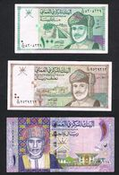 OMAN 100 BAISA - 1/2 RIAL - 1 RIAL 1995/2015 - Oman