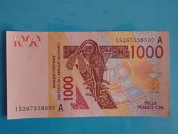 1.000  FRANCS  CFA  B.C.E.A.O 2015  LETTRE  A  (  COTE  D' IVOIRE  ) - Côte D'Ivoire