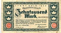 """Städte Großgeldscheine - Banknoten Während Der Inflationszeit V. 1923  Zehntausend Mark - Satz """"GUTSCHEIN"""" (0002) - [ 3] 1918-1933 : República De Weimar"""