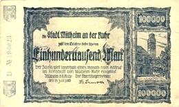 """Städte Großgeldscheine - Banknoten Während Der Inflationszeit V. 1923  Einhunderttausend Mark -  """"_"""" (0003) - 1918-1933: Weimarer Republik"""