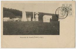 Souvenir De Seoul Corée 1903 Postally Used Chemulpo Empire De Corée Text About Postcards Hard To Find - Corea Del Sud
