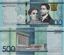 DOMINICAN REP.       500 Pesos Dominicanos       Comm.     P-New     2017       UNC - Repubblica Dominicana
