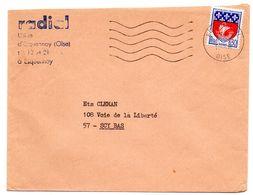 OISE - Dépt N° 60 = BRETEUIL 1968 = FLAMME Codée = SECAP Muette '5 Lignes Ondulées' - Maschinenstempel (Werbestempel)