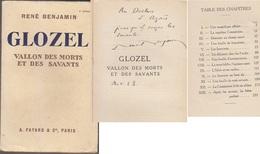C1 Rene BENJAMIN - GLOZEL Vallon Morts Et Savants 1928 DEDICACE Envoi SIGNED - Books, Magazines, Comics