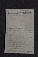 Facture De ST GIRONS - Imprimerie C.RIVES Fils Et Enveloppe Publicitaire - Imprimerie & Papeterie