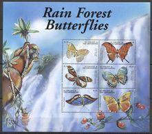 Y150 ST.VINCENT FAUNA RAIN FOREST BUTTERFLIES 1KB MNH - Papillons