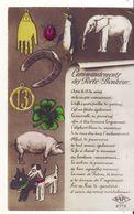 CPA - Commandement Des Portes-bonheurs (Eléphant, Coccinelle, Cochon, Trèfle, Fer à Cheval Etc...) - Felicitaciones (Fiestas)