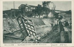 68/MULHOUSE -  Die Giessereibrücke Nach Der Sprengung  (juin 1940) - Mulhouse