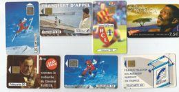 LOT DE 7 TELECARTE DE FRANCE - Phonecards