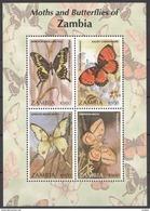 Y169 ZAMBIA FAUNA MOTHS & BUTTERFLIES OF ZAMBIA 1KB MNH - Papillons