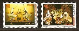 Macédoine Macedonia 1998 Yvertn° 128-129 *** MNH Cote 5,00 Euro Europa Festivals Nationaux - Macédoine